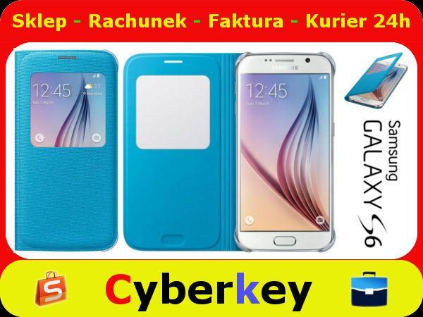 Etui Samsung Galaxy S6 S View Cover Blue Oryginal 5577087312 Oficjalne Archiwum Allegro Samsung Galaxy S6 Samsung Galaxy Galaxy S6