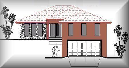 Hillside House Plans With Garage Underneath  Story House Plans - House design with garage underneath