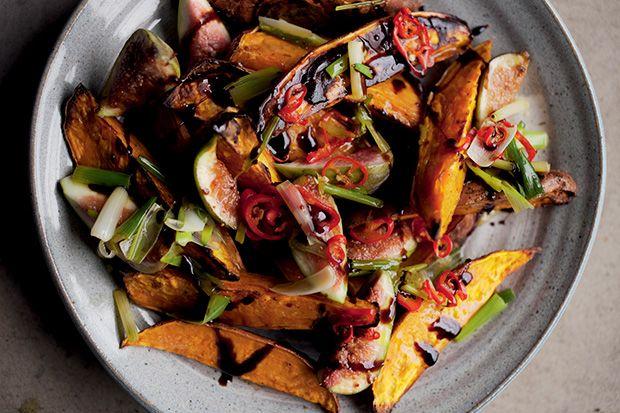 Roasted Sweet Potatoes & Fresh Figs  -Ottolenghi