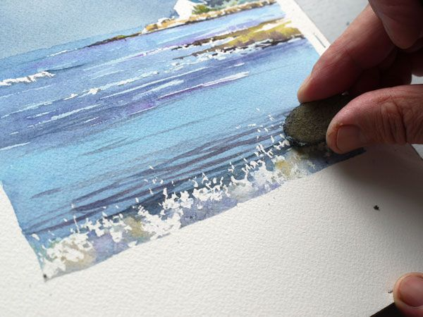 Le Lenn Pas A Pas Joel Simon Peinture Aquarelle Mer Aquarelle