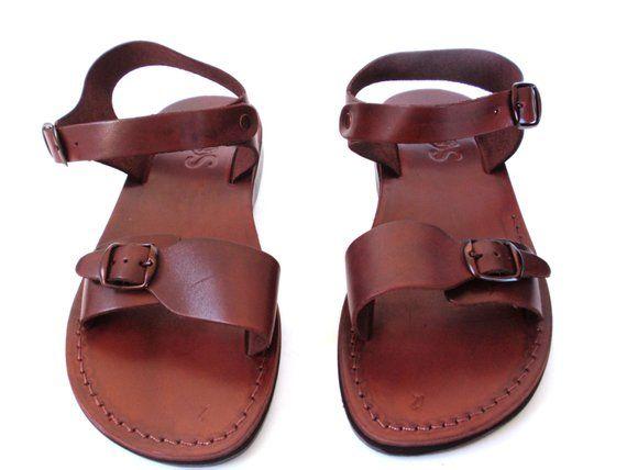 Men Jesus Leather Summer Sandals, Black Elegant Strappy Men