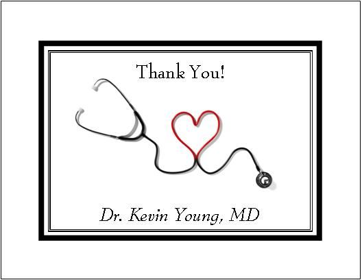 Thank You Greeting Card Note For Doctors | Thank You Notes For
