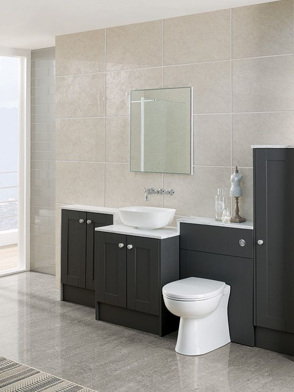 Chiltern Clay Carbon Traditional Bathroom Furniture Shower Room