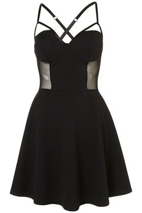 Bodice Skater Dress by Dress Up Topshop