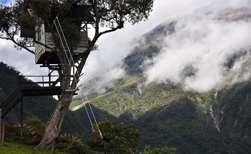 swing at the end of the world, Ecuador - http://adventureawaits.dohop.com/