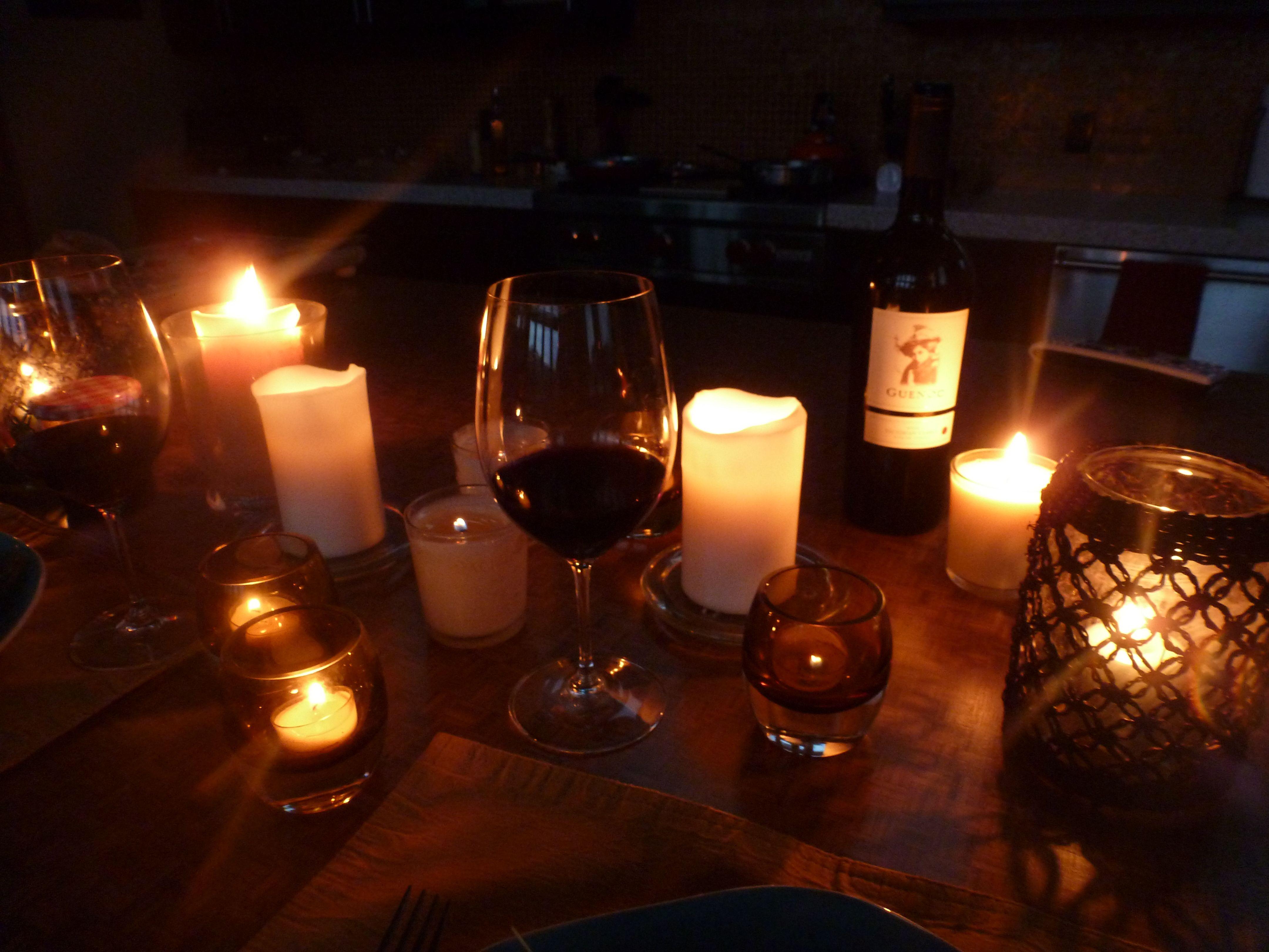 Вечер при свечах фото