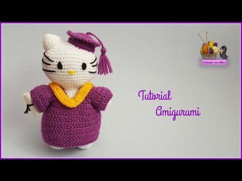 Amigurumi Free Patterns Hello Kitty : Tutorial amigurumi hello kitty cabeza 1 2 youtube crochet