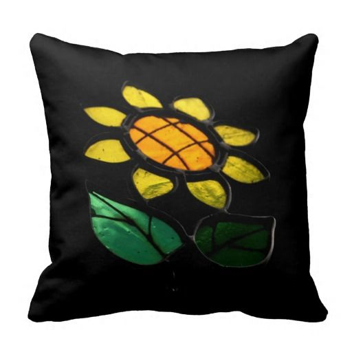 Flowers - Stained Glass - Pillow