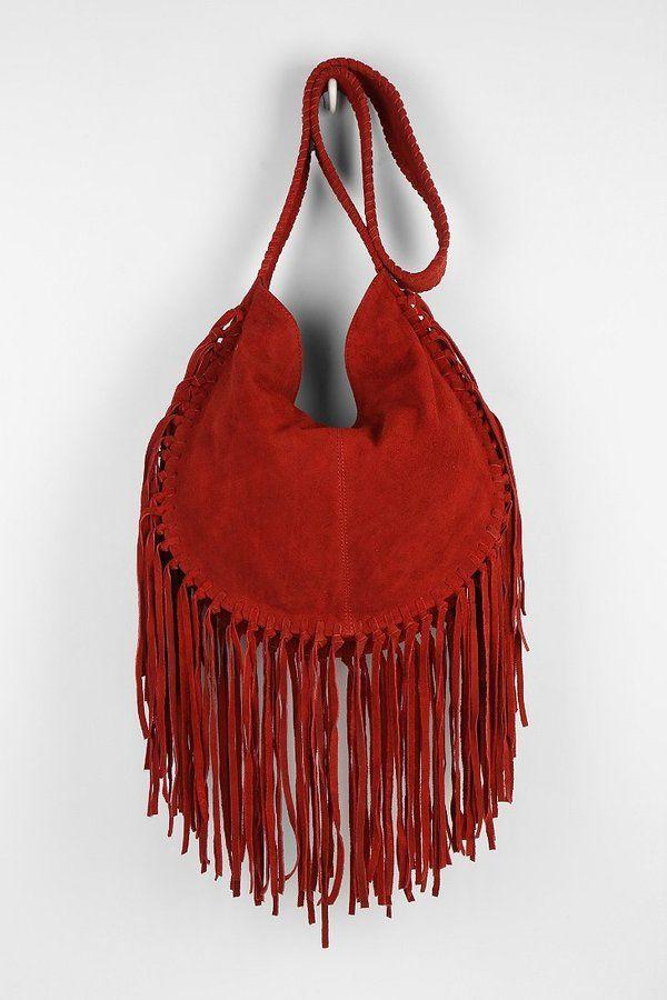 9e3c6472 Urban Outfitters Ecote Bettina Suede Fringe Hobo Bag on shopstyle.com