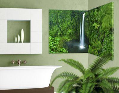 Eckleinwandbild Paradiesischer Wasserfall 11 Jetzt bestellen unter