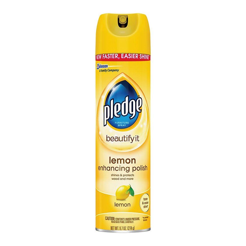 Pledge Lemon Clean Furniture Spray Lemon Scent 9 7 Oz In 2020
