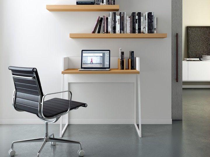 Tischplatte weiß lackieren  Temahome Volga Schreibtisch Weiß & Eiche 90x60cm | Aufsatz, Farbe ...