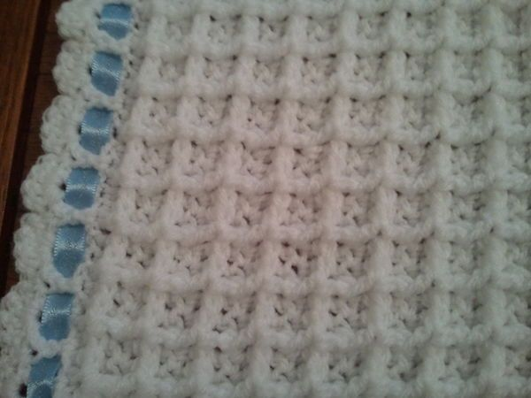 fe41ce2f699 Crochet Waffle Baby Blanket Pattern
