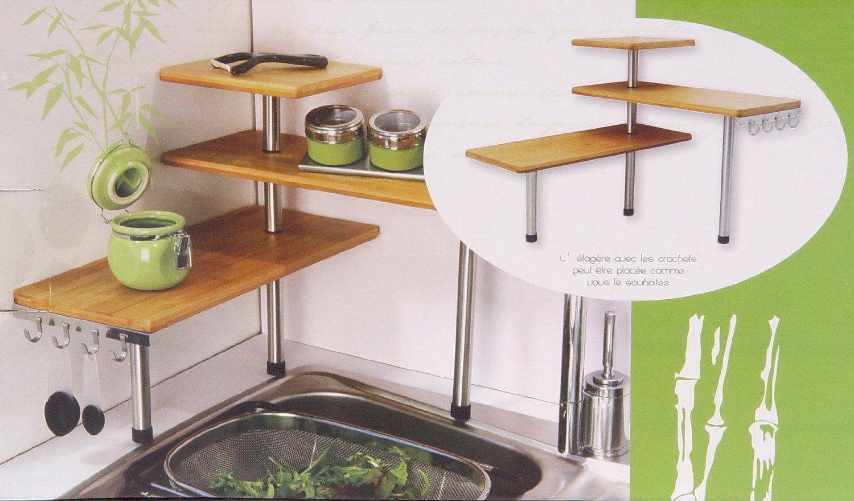 etagere de cuisine a poser sur plan de travail etagere a. Black Bedroom Furniture Sets. Home Design Ideas