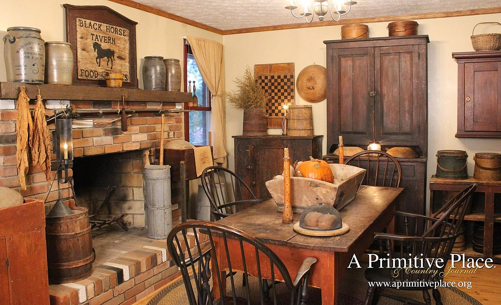 Enjoy Inspiration And Ideas For Your Country Primitive Colonial Cabin Rustic Farmhouse Primitive Homes Primitive Decorating Country Primitive Dining Rooms #primitive #living #room #furniture