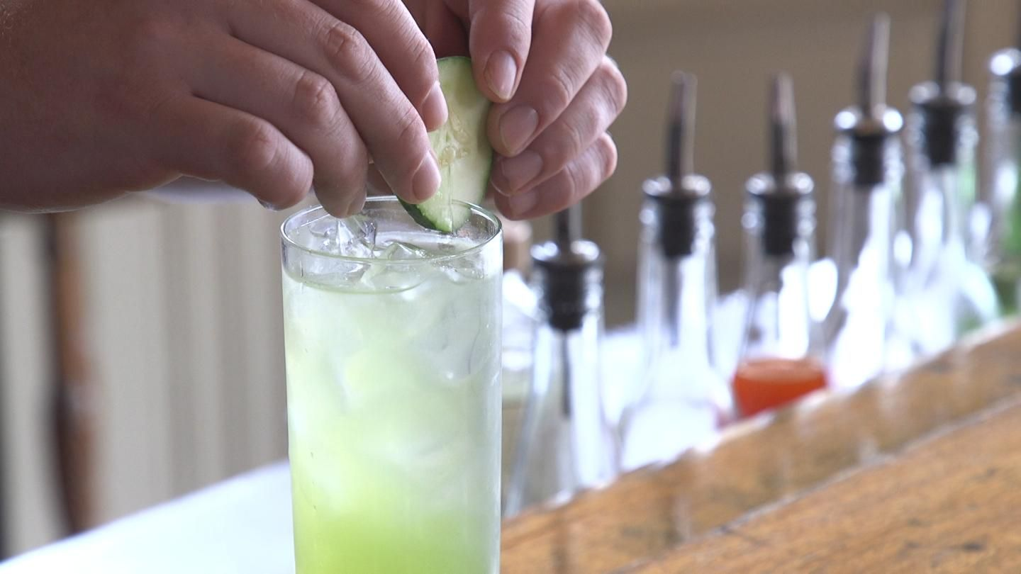 Tony Smith Of Spice Kitchen Bar In Gordon Square Builds A Variation On A Gin And Tonic That S Infused With A Big Flavor Gin And Tonic Tonic Ingredient