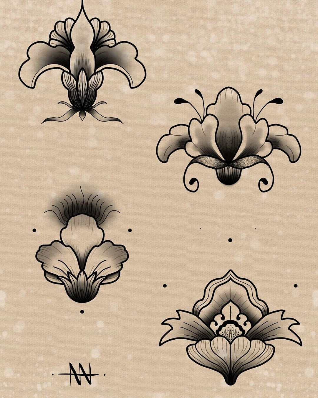 ~Las Florecitas ~ Flashs disponibles . . . . #tattooflash #art #instadraw #instart #picoftheday #instagood #pencil #paper #landscape #tattoodrawing #tattoolover #tattoopassion #tattoist #tattoogram #drawing #passion #drawinglife #illustration #artwork#artist #creative #occultart #darkart #blackworktattoo #neotraditional #lameuteinkworkshop