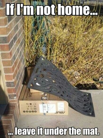 Funny pics - door mat lol