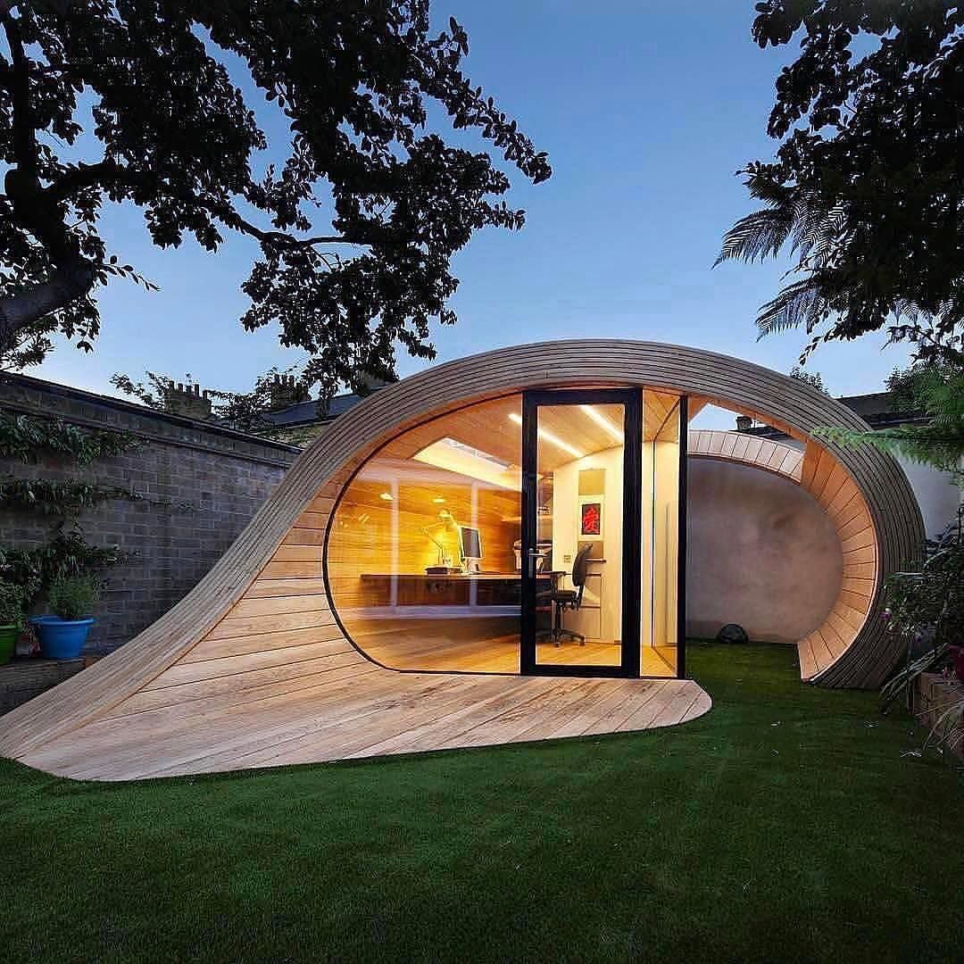 office in the garden. A Shed And An Office In One, Great Way To Separate The From House. This Beautifully Designed Shoffice Is Based London, Garden
