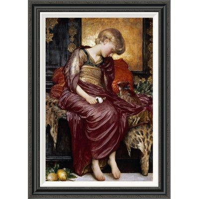 Global Gallery 'Kittens' by Lord Frederick Leighton Framed Painting Print
