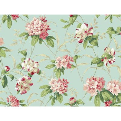 "York Wallcoverings Casabella II Rhododendron 27' x 27"" Floral and Botanical 3D Embossed Wallpaper & Reviews 