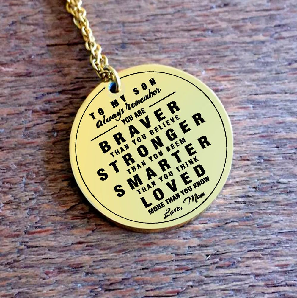 Mother and son necklacealways remember i love you best