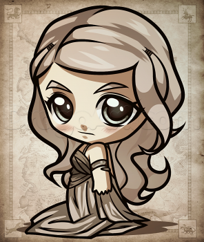 How To Draw Chibi Daenerys From Game Of Thrones By Dawn Game Of
