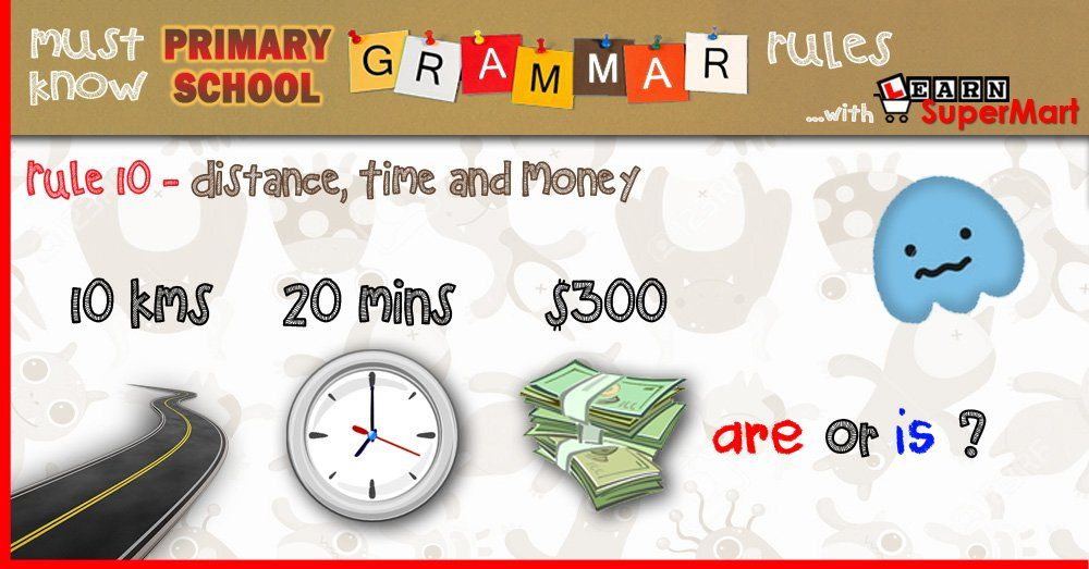Subject Verb Agreement For Distance Time And Money Primary School