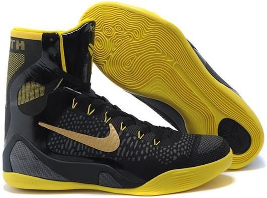 Nike Kobe 9 High- Black Yellow basketball shoes