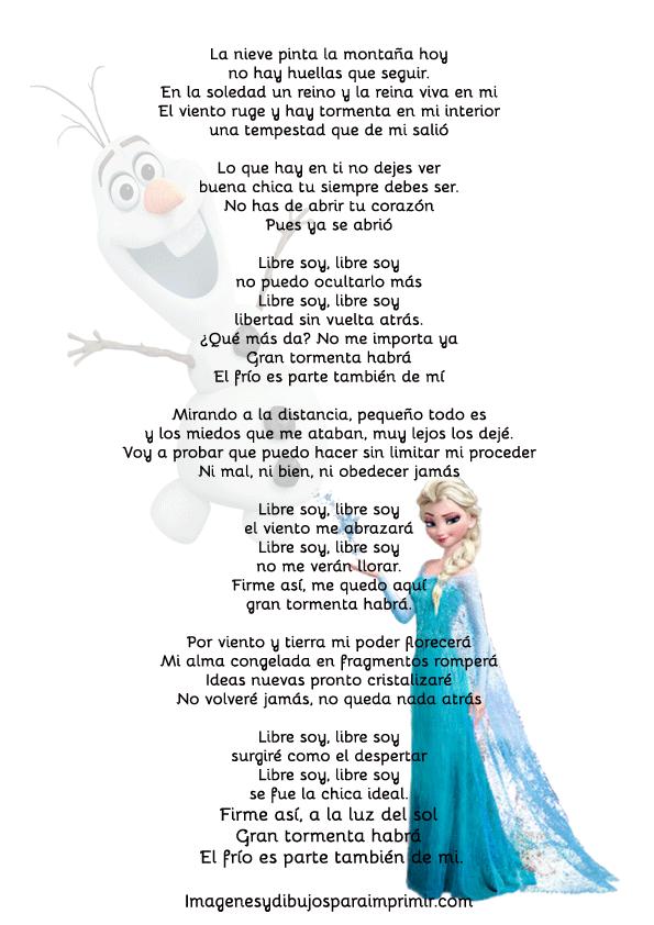 Frozen cancion libre soy-Imagenes y dibujos para imprimir | lecturas ...