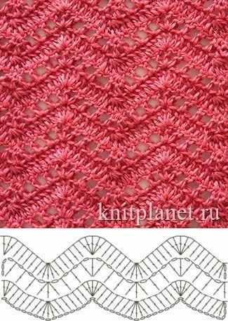 Zig zag, calado | Patrones de crochet | Pinterest | Puntadas ...
