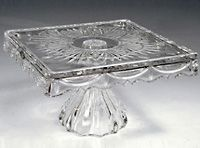 square crystal cake stand | ... square freedom footed crystal cake plate 10 this large square footed & square crystal cake stand | ... square freedom footed crystal cake ...