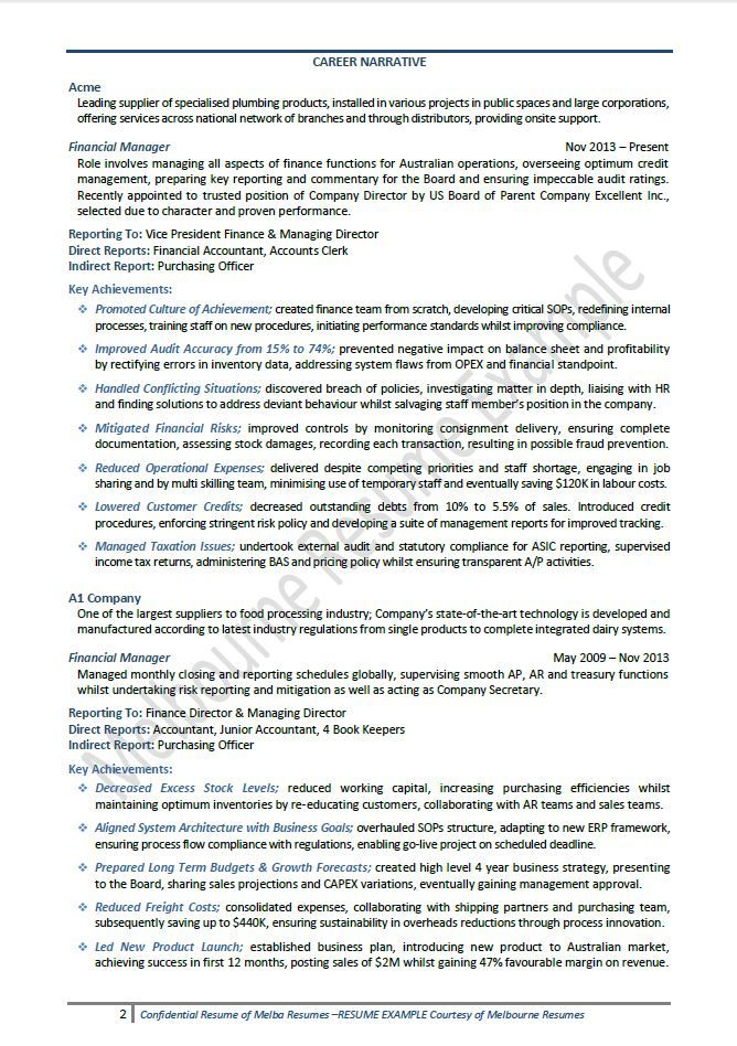 Big 4 Resume Examples Pinterest Sample resume and Resume examples - free resumes examples