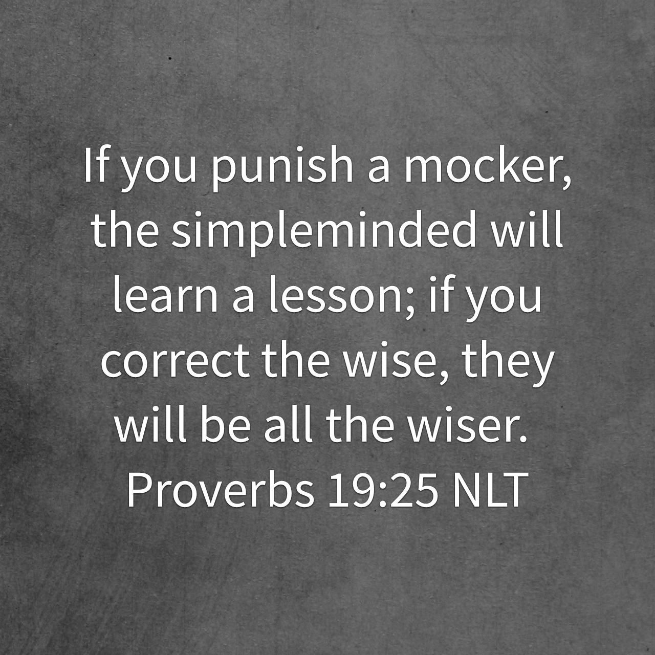 Proverbs 19:25 | Holy Bible Verses | Proverbs 19, Word of god
