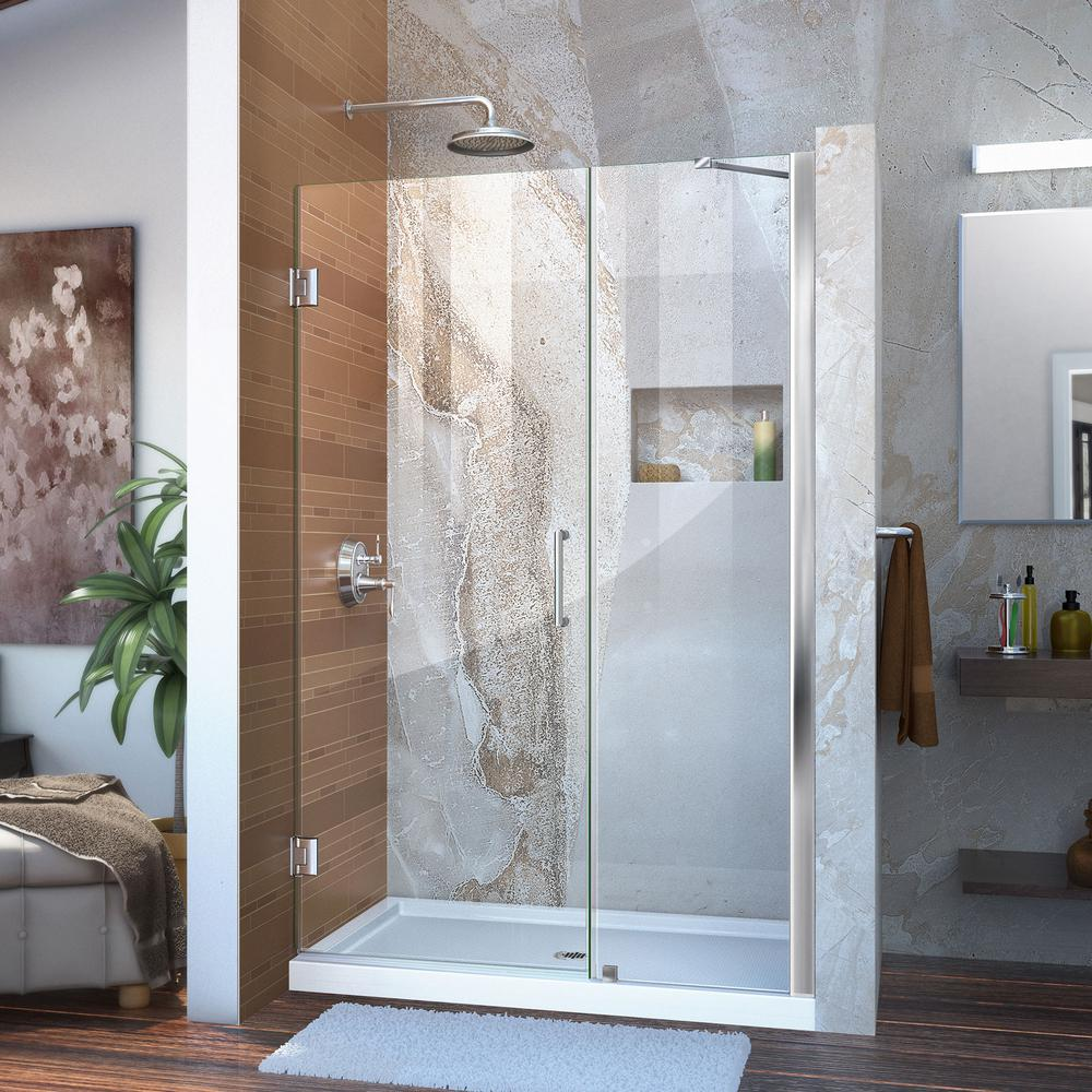 Dreamline Unidoor 48 To 49 In X 72 In Frameless Hinged Shower