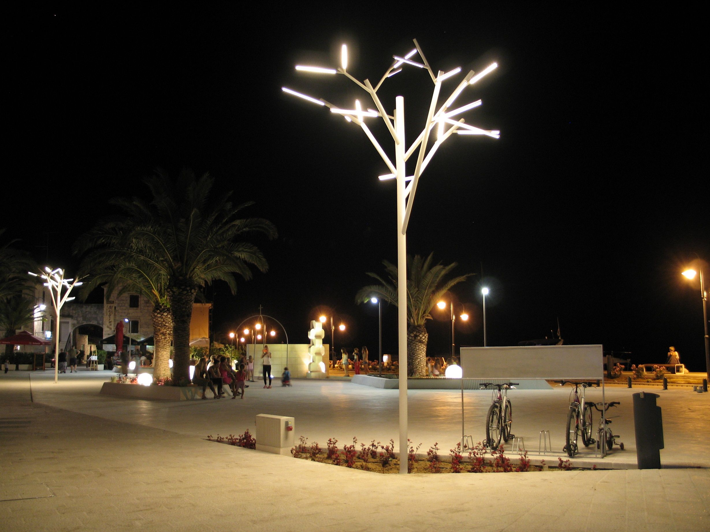 Urban lighting at rogoznica sibenik croatia u architectural
