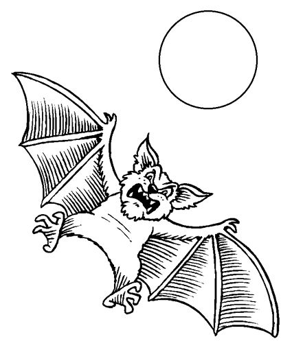 printable bat coloring pages - Bat Colouring Pictures