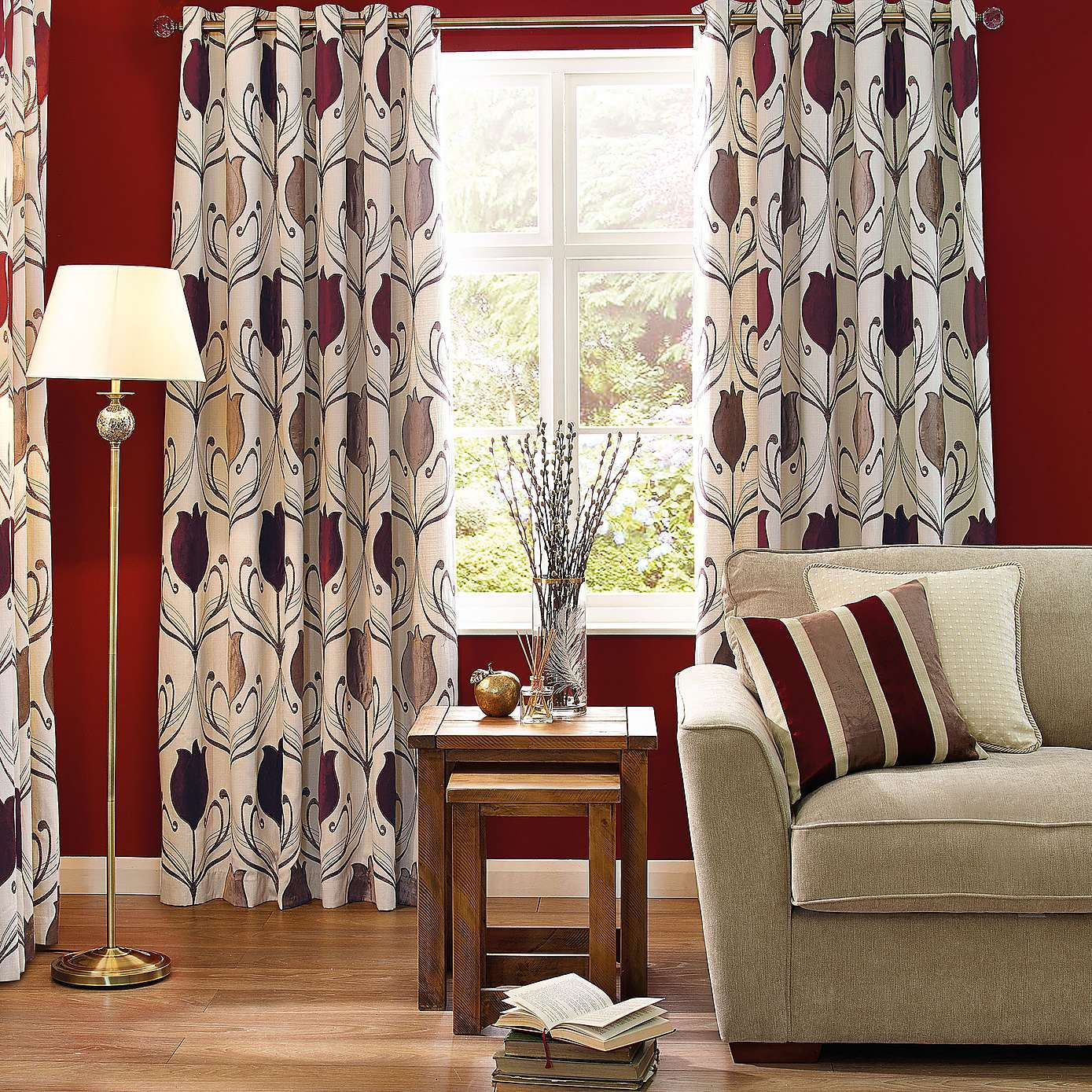 Lalique Wine Lined Eyelet Curtains Dunelm Curtains Pinterest Wine And Floral Embroidery