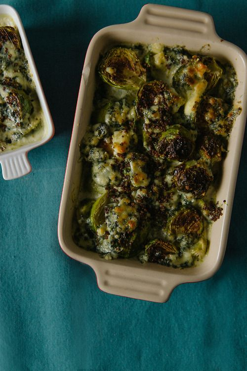 Brussel Sprouts Gratin from Dinner was Delicious blog