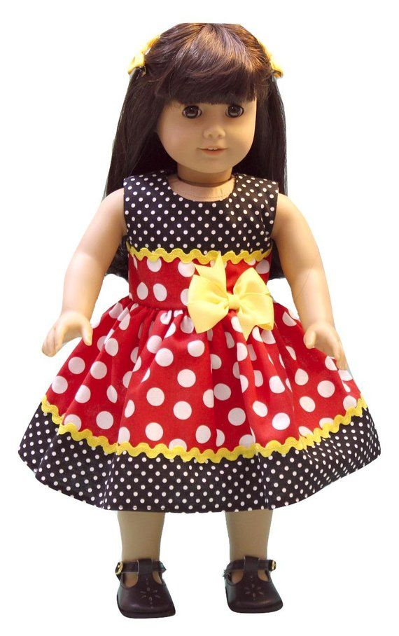Doll dress Dolls like American Girl 18 inch doll  AG doll clothes 18 inches doll dress #dolldresspatterns
