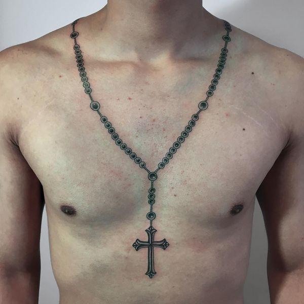 Tattoo De Crucifijos En El Cuello Busqueda De Google Rosarybeadtattoo Tattoo De Crucifijos En El Tatuajes De Rosario Tatuaje De Crucifijo Tatuaje De Rosario