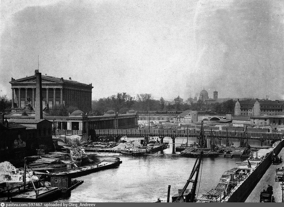 1868 Der Bau Der Friedrichsbrucke Berlin Geschichte Berlin Geschichte