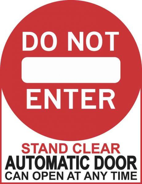 5in X 6 5in Do Not Enter Automatic Door Sticker Vinyl Business Sign Decal Door Stickers Automatic Door Business Signs