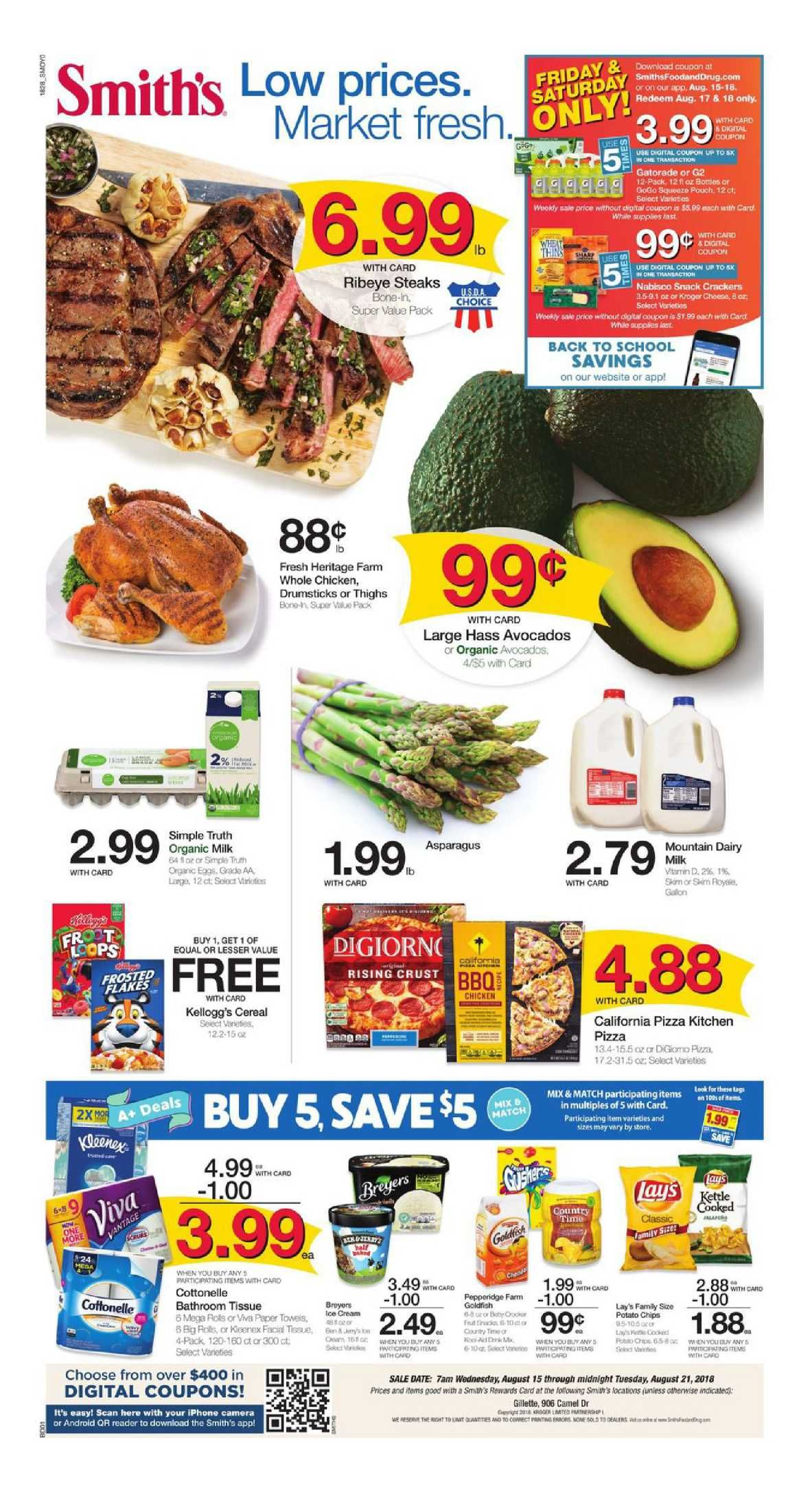 Browsing Latest Smiths Weekly Ad Flyer This Week Period August 15 21 2018