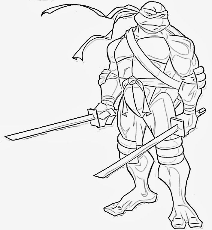 Ninja Turtles Coloring Pages Teenage Mutant Ninja Turtles