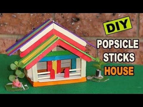 DIY Popsicle Sticks House 8 Easy Steps