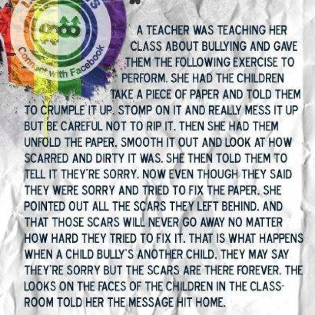 Lesson about bullying :)