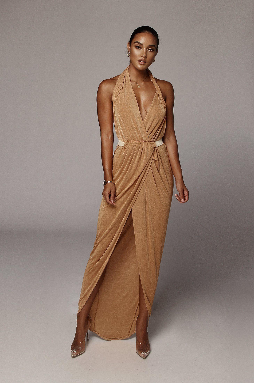 Tan Mckenna Backless Dress Medium In 2021 Dresses Backless Dress Maxi Wrap Dress [ 2197 x 1459 Pixel ]