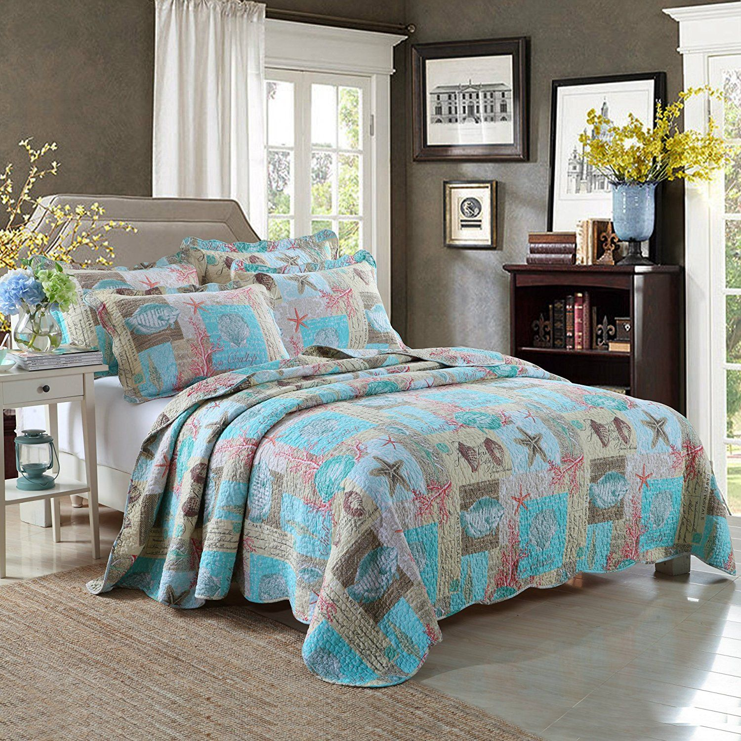 bedding comforters twin beach themed coastal adults sea living bedroom decor comforter for quilts girl ocean ideas mens