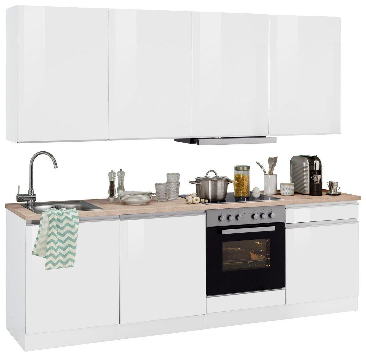 Kuchenzeile Ohio Mit E Geraten Breite 240 Cm Kitchen Cabinet Design Kitchen Cabinets Cabinet